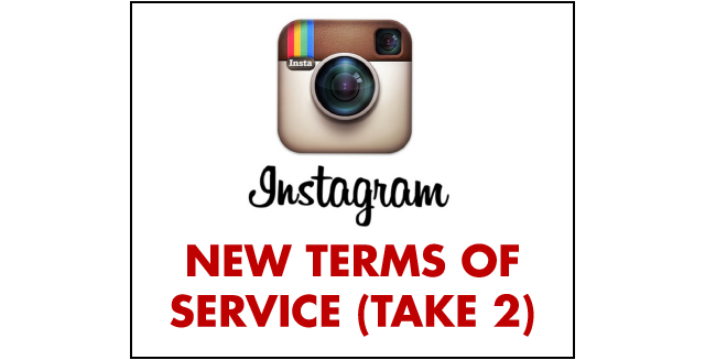 Instagram's New Terms of Service, Take 2