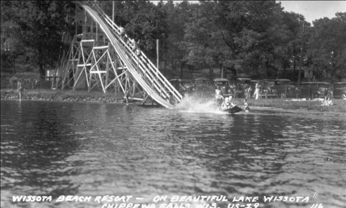 The Wissota Beach Resort Toboggan Slide