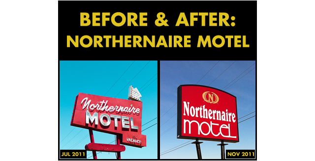 Before & After - Northernaire Motel