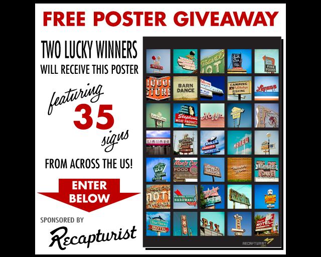 Free Vintage Sign Poster Giveaway!